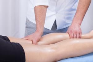 Sesión de Fisioterapia. Tratamiento combinado