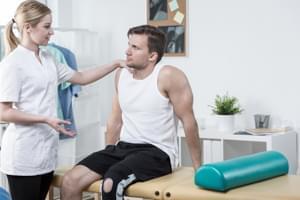 Sesión de Fisioterapia. Tratamiento combinado intensivo